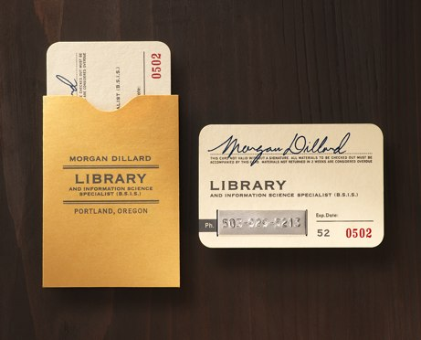 Just the coolest little business card - library card