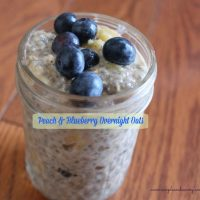 Blueberry and Peach Overnight Oatmeal