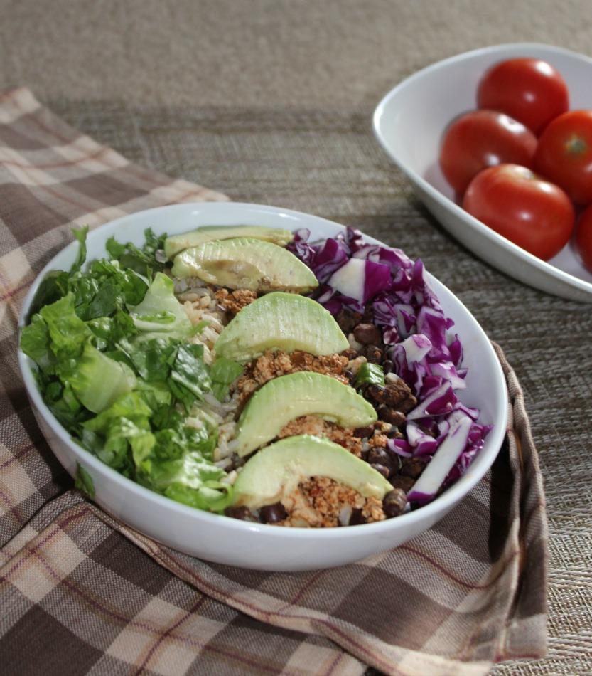 Vegetarian Burrito Bowl Simple and savory.com