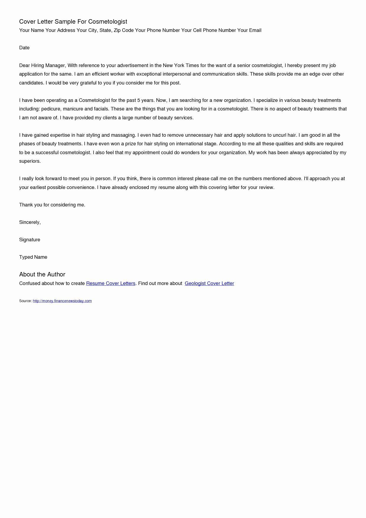 resume duty letter