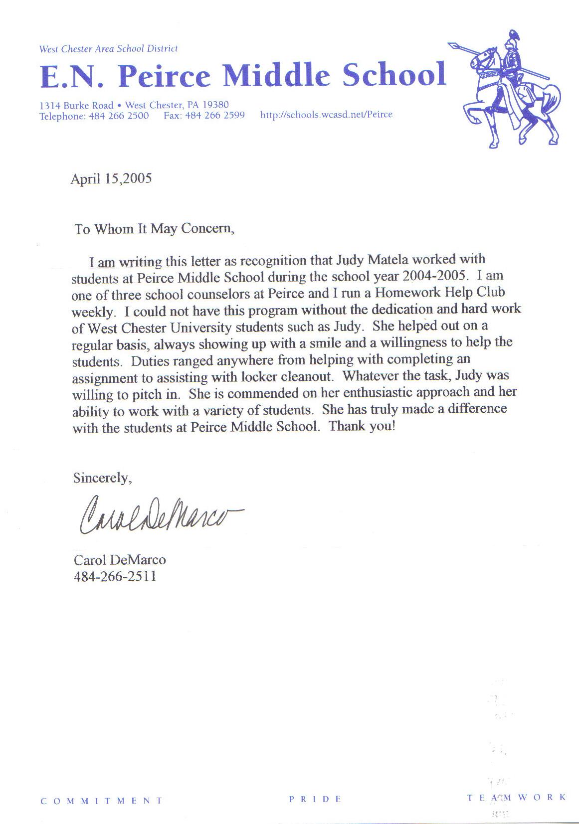 sample recommendation letter for a teacher colleague