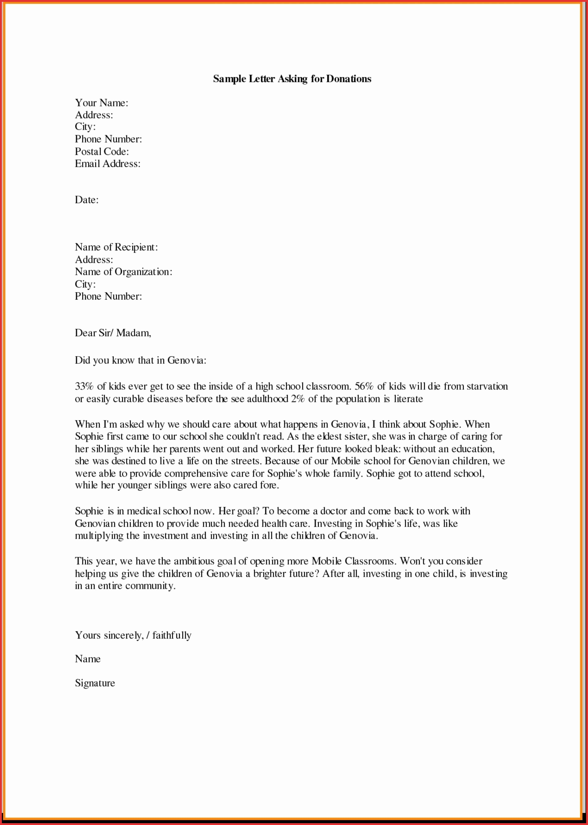 sample donation request letter for school supplies