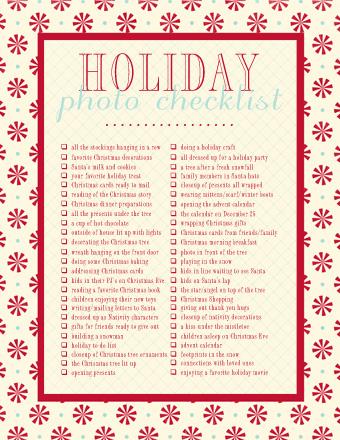 free printable + a roundup of Christmas ideas - christmas checklist template