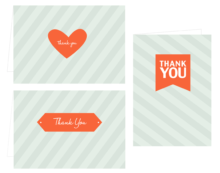 FREE thank you card printables and more! - free thank you notes templates