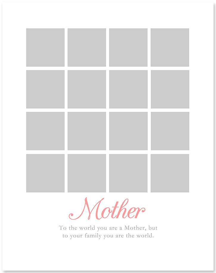 Simple Mother\u0027s Day Gift DIY Photo Collage for Mom