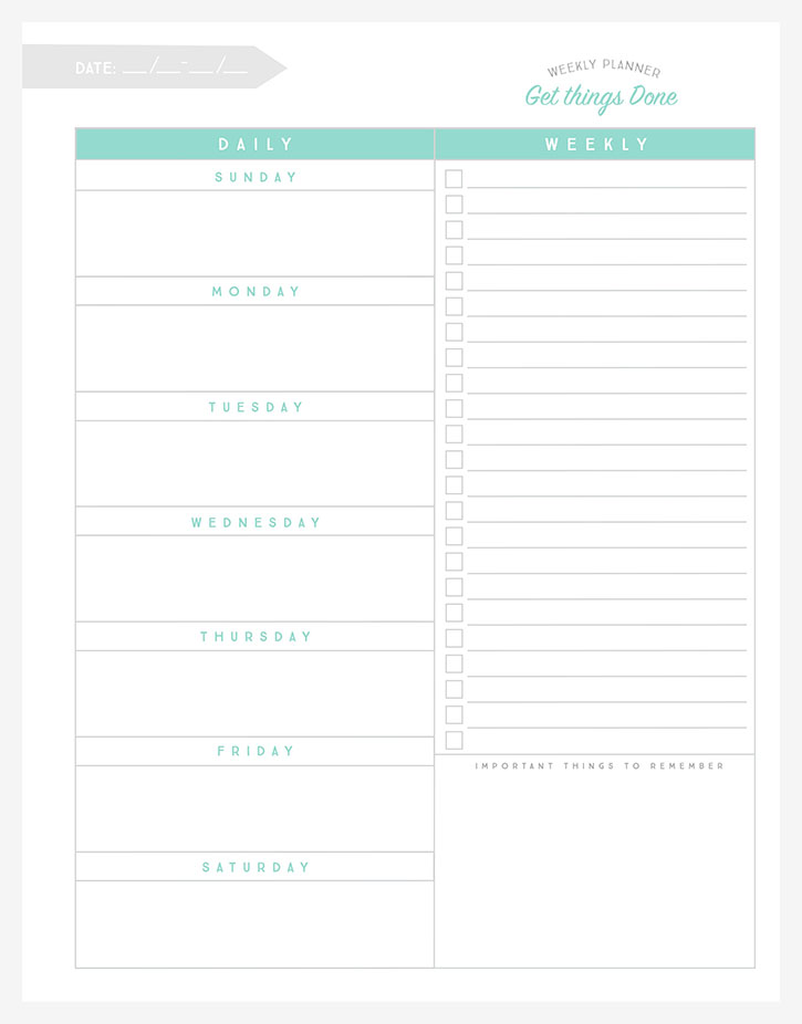Free Organizational Printables to Streamline Your To-Do Lists - free printable weekly planner