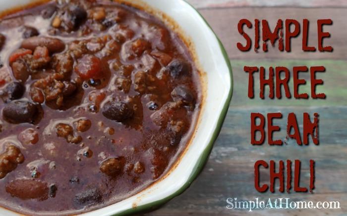 Simple 3 Bean Chili