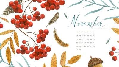 Hello, November! + Free Desktop Wallpaper - Simple + Beyond