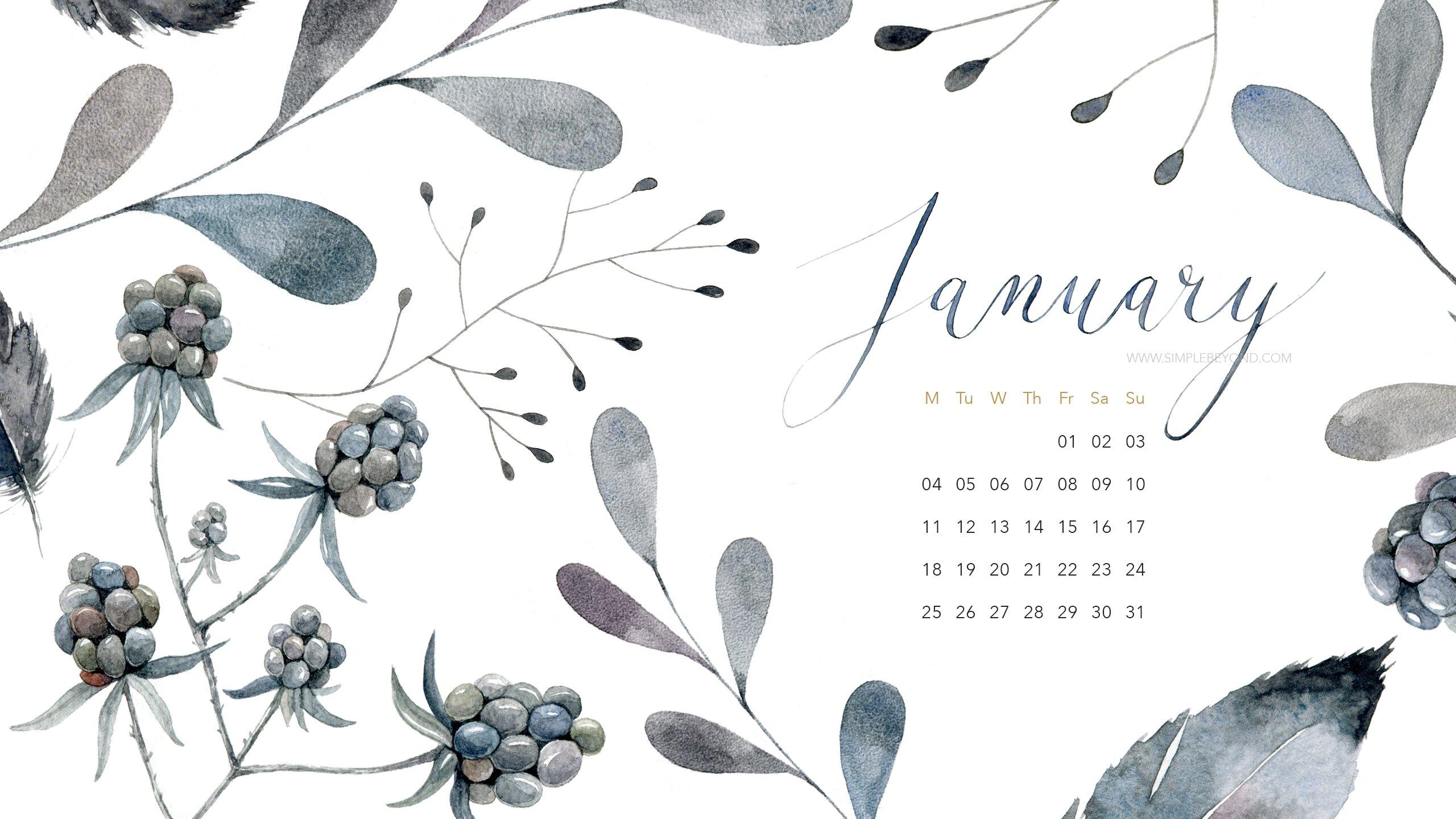 Happy Fall Desktop Wallpaper Happy New Year Free January Wallpaper Set Inside Simple