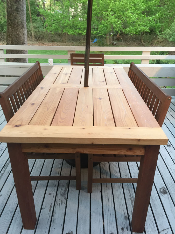 Teak Wood Dining Table Online Outdoor Cedar Patio Table By Steve_s | Simplecove
