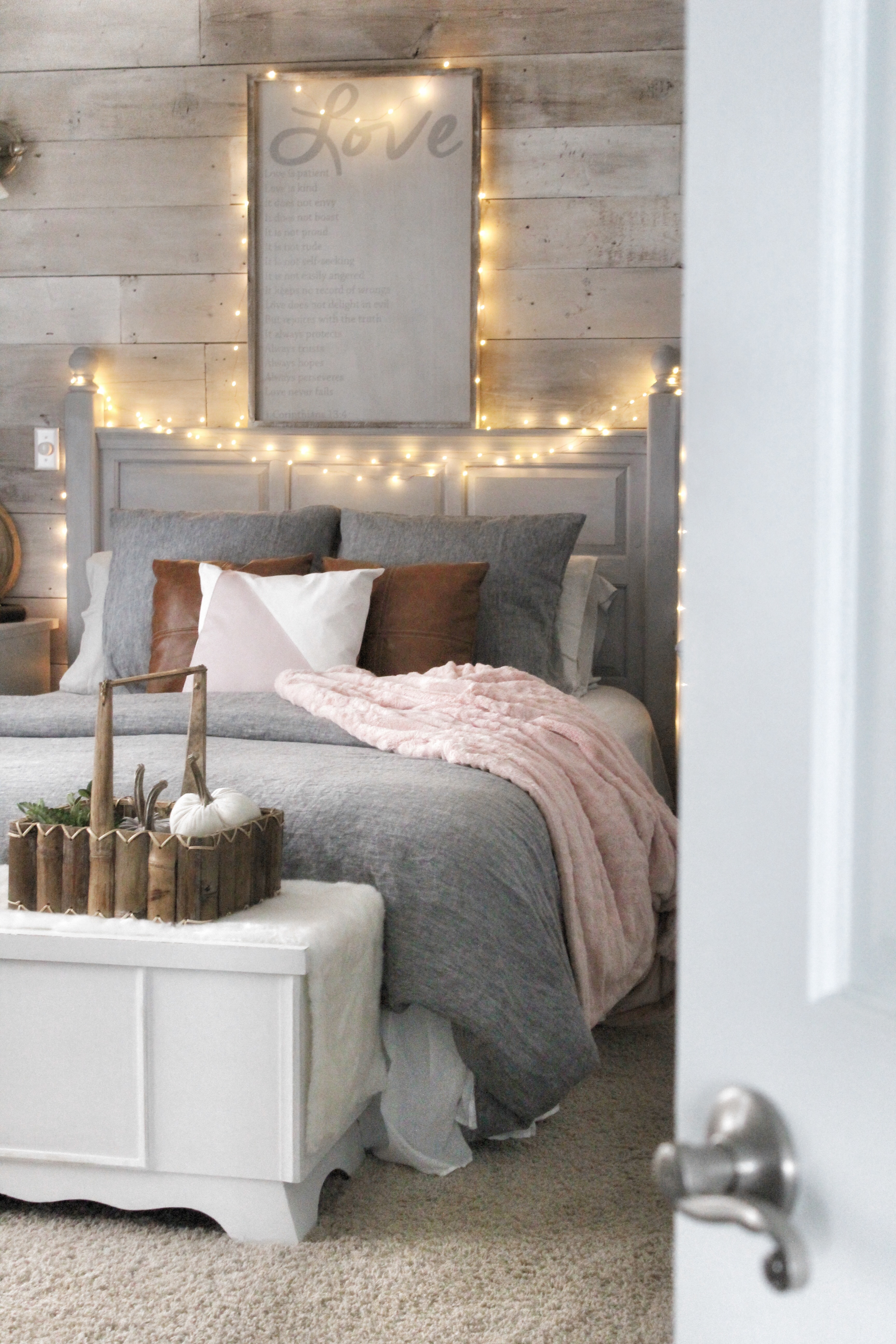 Decoration Cosy Cozy Bedroom Reveal And A Chalk Painted Pillow Simple