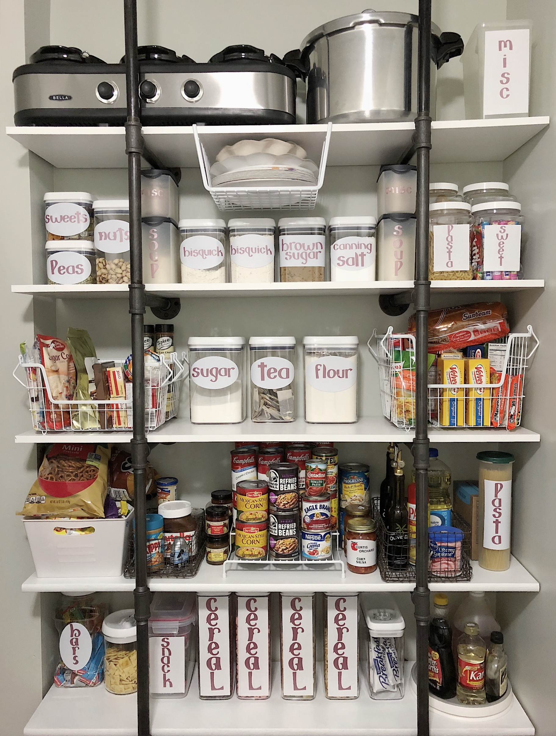 Pantry Organization Pantry Organization With Industrial Shelving Simple Cozy Charm