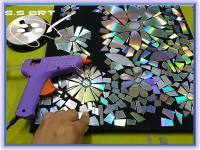 How to make CD wall art   Simple Craft Ideas