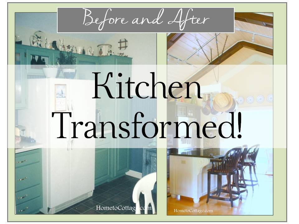 Kitchen Transformation Before And After: Kitchen Before And After, HometoCottage.com