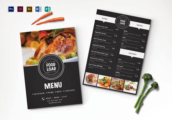 Top 28 Free PSD Restaurant Menu Templates 2017 - SimpleFreeThemes - dinner party menu template