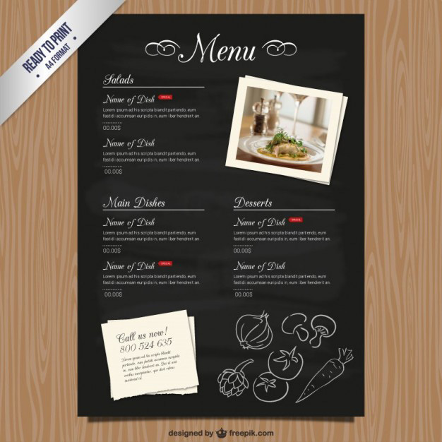 Top 31 Free PSD Restaurant Menu Templates 2019 - SimpleFreeThemes