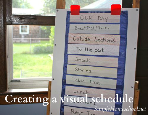 Creating a visual schedule for kids - Simple Homeschool
