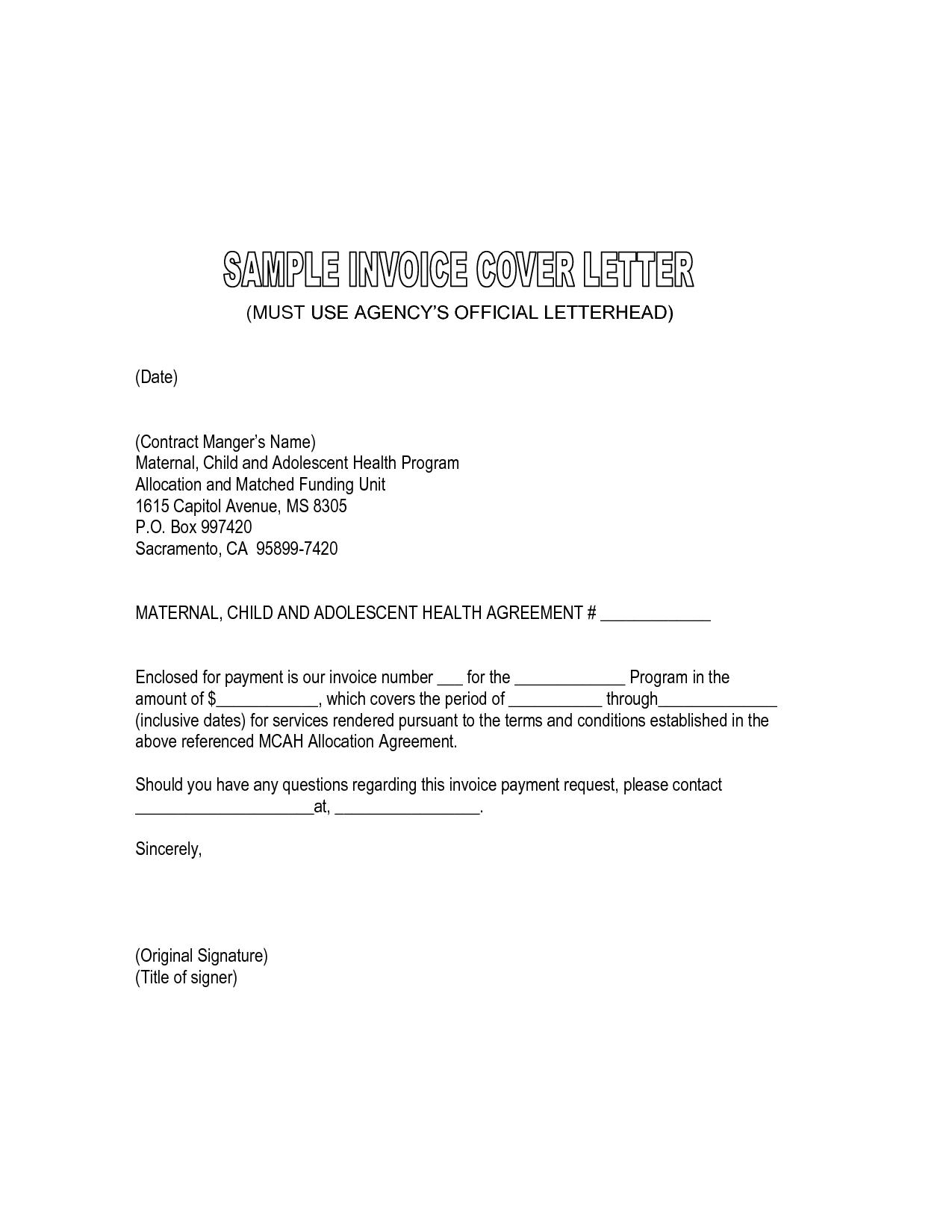 billing invoice letter sample   cover letter sample for job, Invoice templates