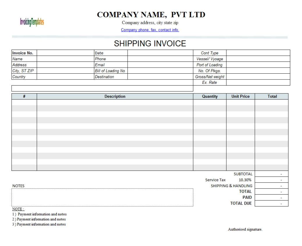 Sequentially Numbered Invoice Template For Ms Word Manual Invoice Template Invoice Template Ideas