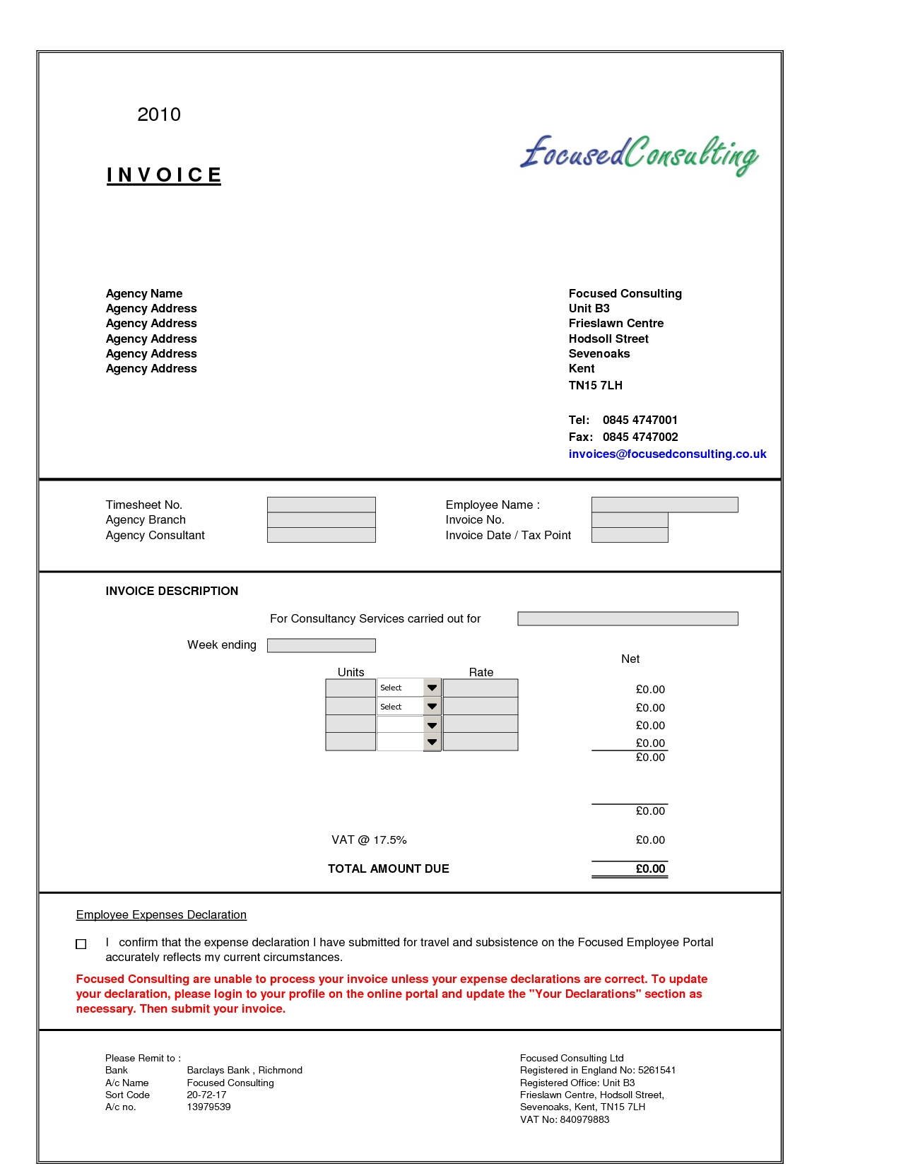 professional fees invoice format in excel