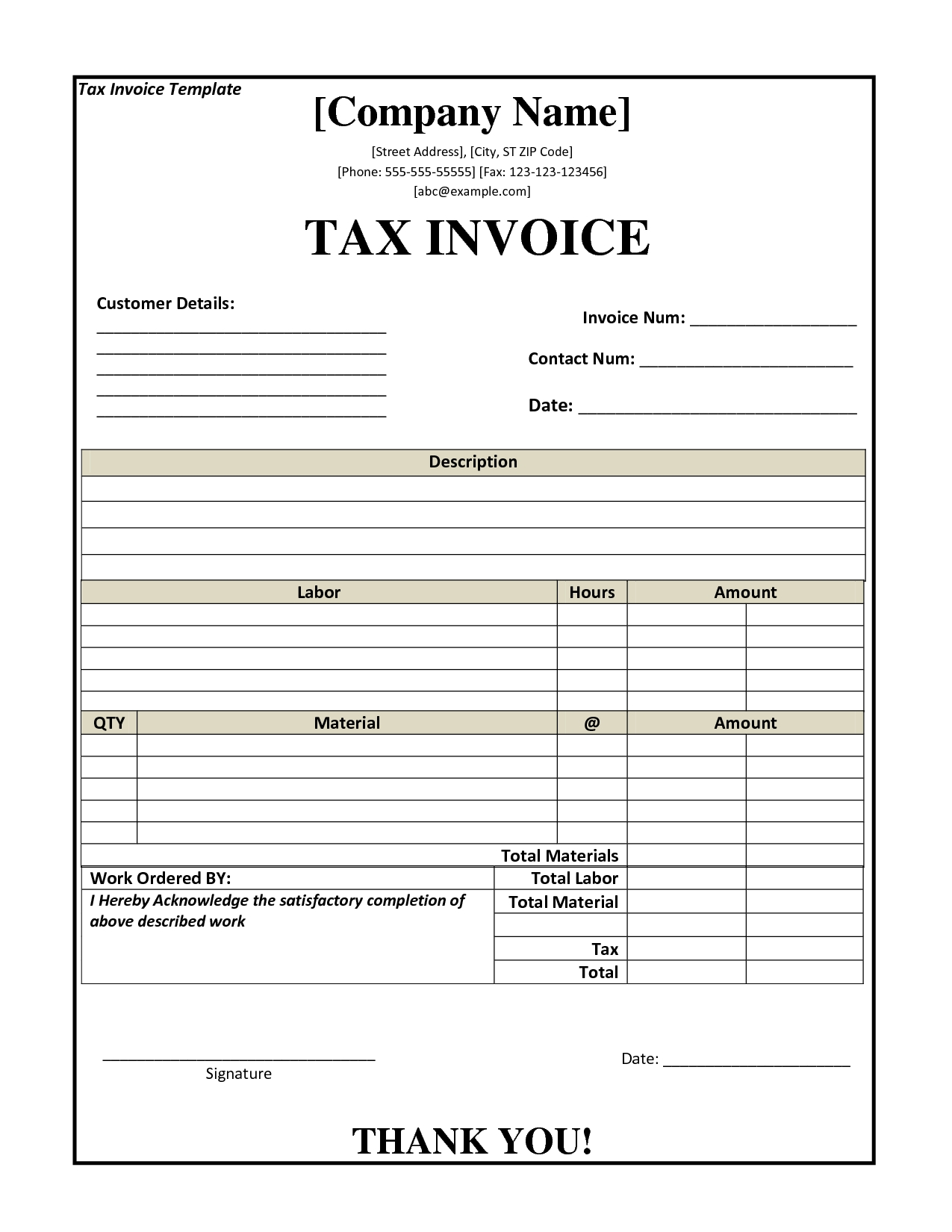 Accounting Template Excel Australia – Invoice Template Excel Australia