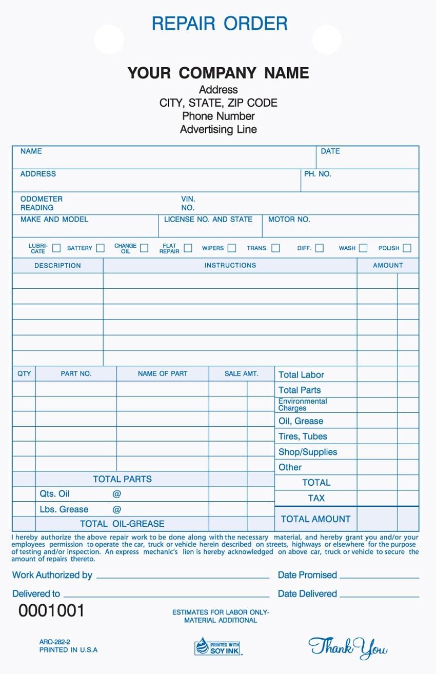 Free Auto Repair Invoice Invoice Template Vehicle Repair Invoice Invoice Template Ideas