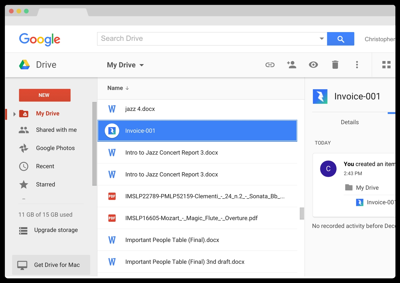 google drive cover letter templates