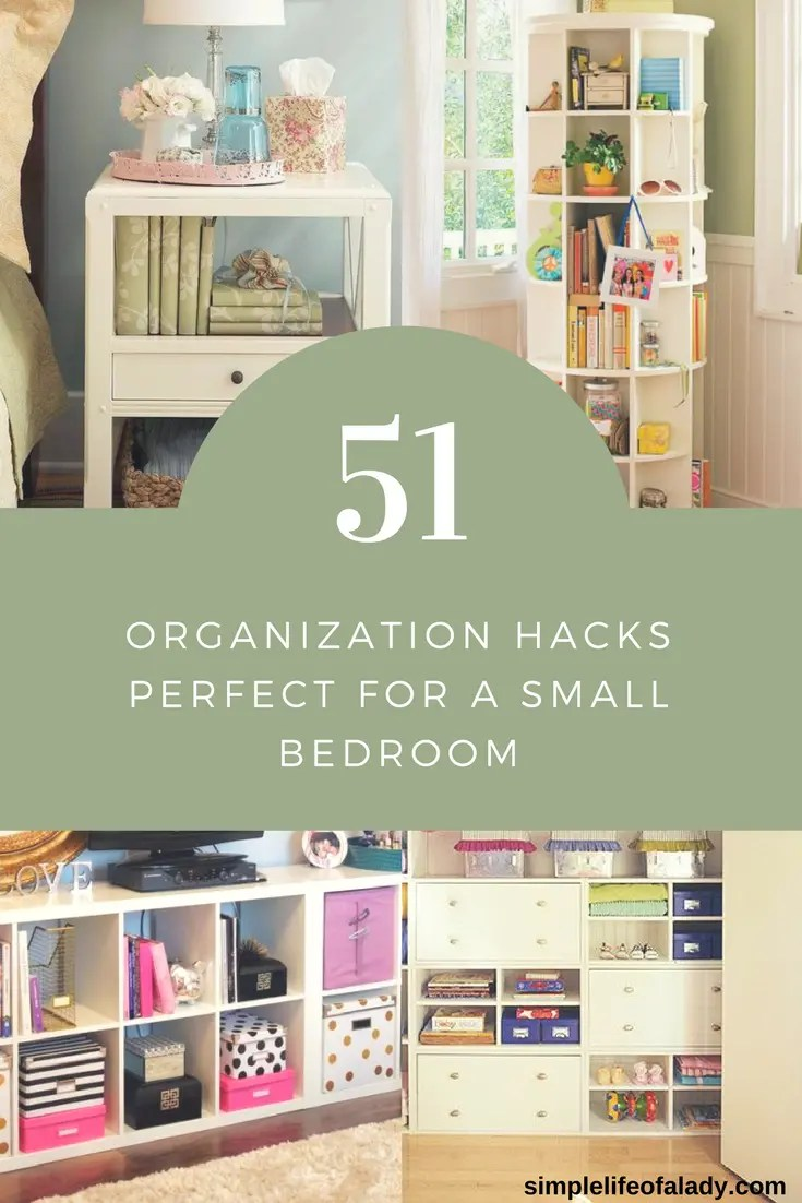 Small Space Organization 51 Simply Amazing Small Space Hacks For Your Tiny Bedroom