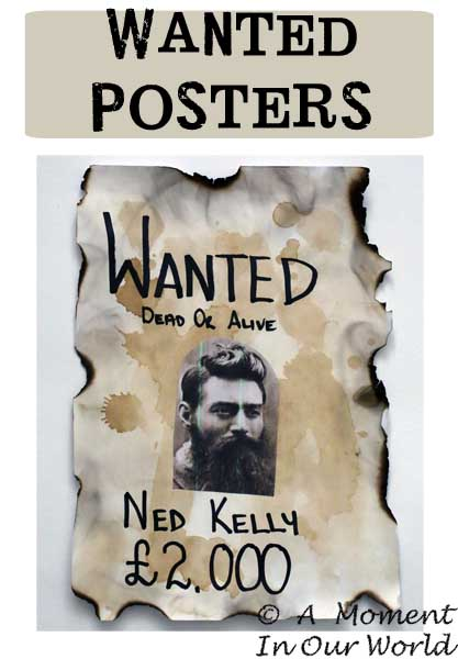 Wanted Posters - Simple Living Creative Learning