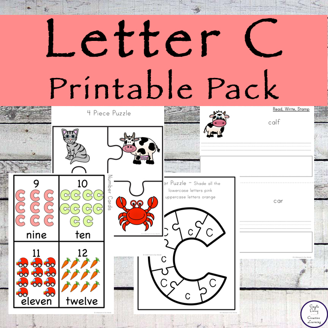 Letter of the Week} Letter C Printable Pack - Simple Living