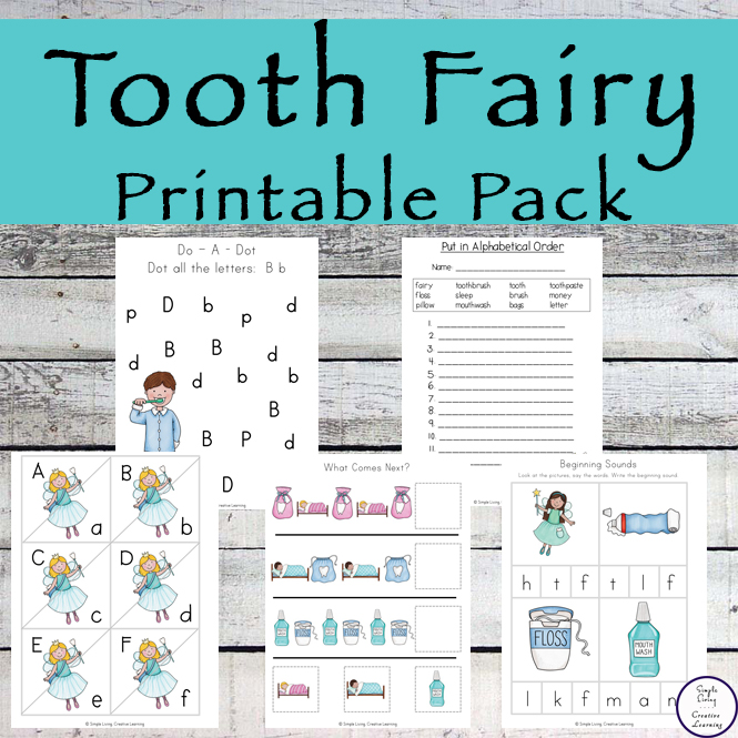 Tooth Fairy Printable Pack - Simple Living Creative Learning