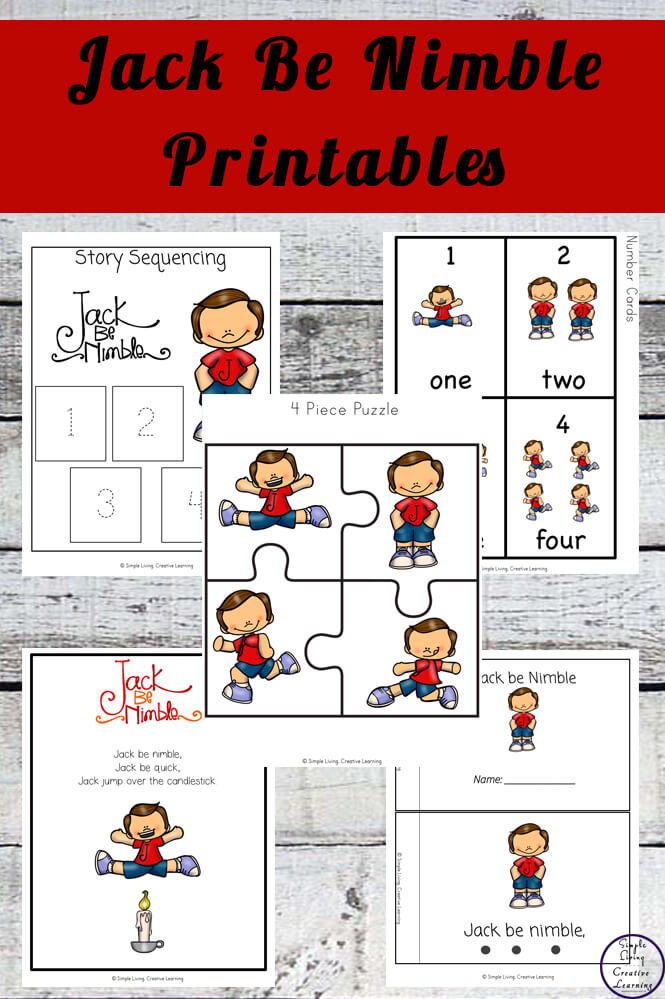 Jack Be Nimble Printable Pack - Simple Living Creative Learning