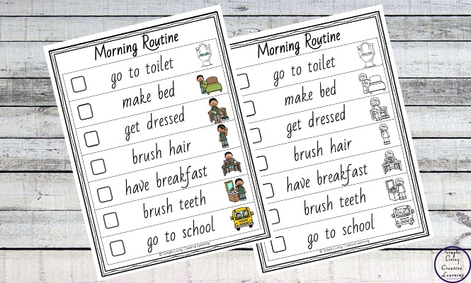 Daily Routine Printables - Simple Living Creative Learning