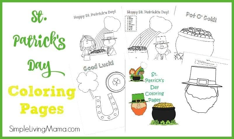 St Patrick\u0027s Day Color By Number Page and Coloring Pages - Simple