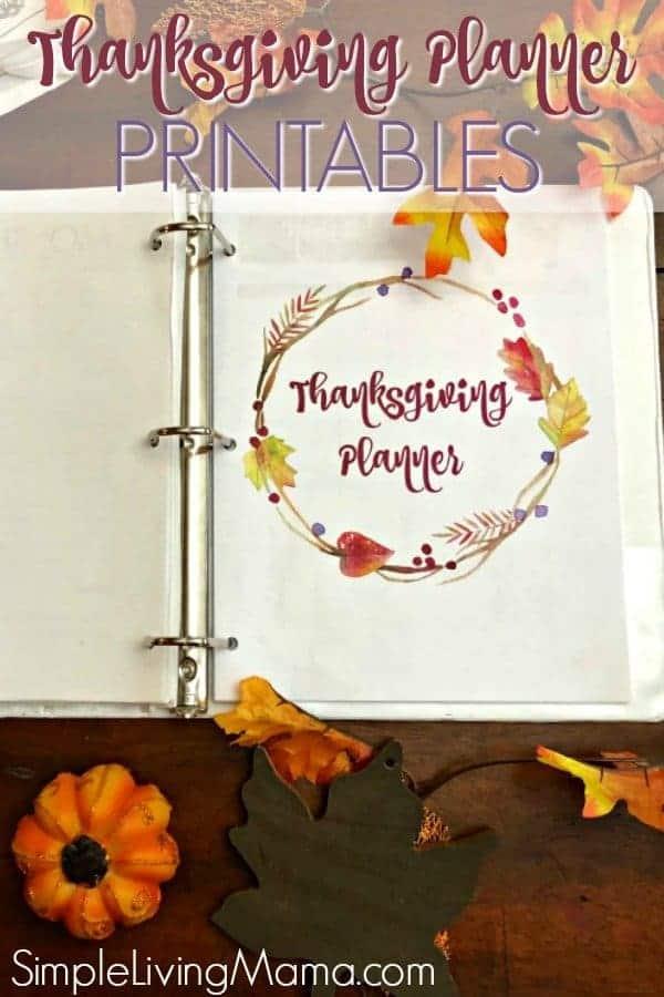 Thanksgiving Menu Planner Printables - Simple Living Mama