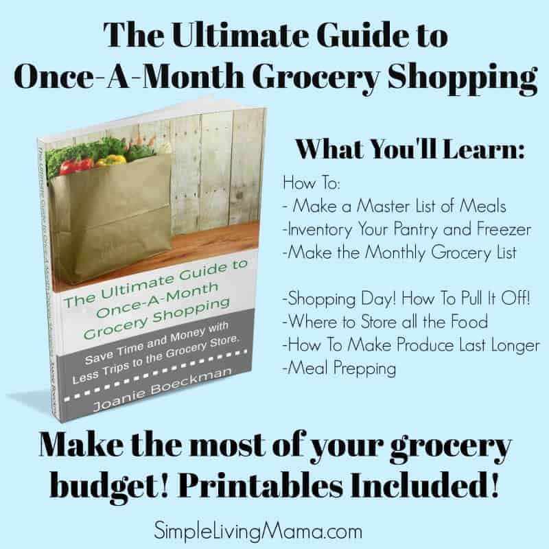 Make a Master List of Meals - Monthly Meal Planning - Simple - printable grocery lists