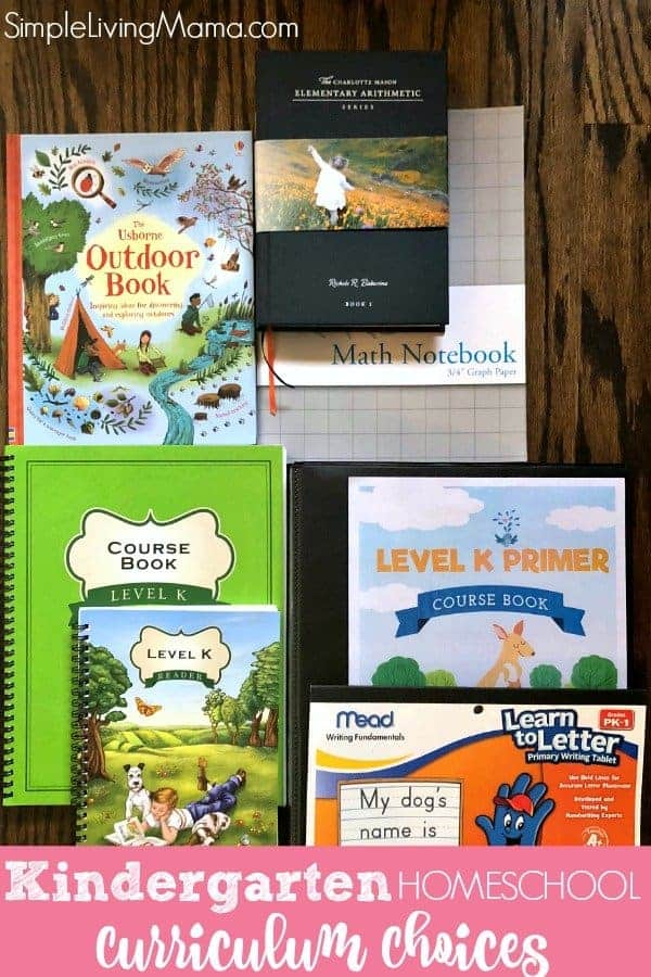 Kindergarten Homeschool Curriculum Choices - Simple Living Mama