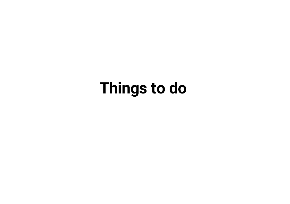 Do Things Things To Do Simplemind