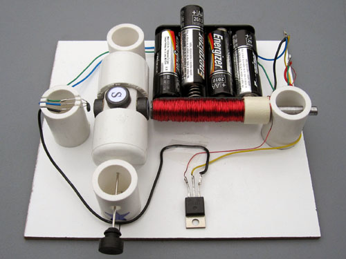 Motor on a Hall Effect Switch Simple Electric Motors