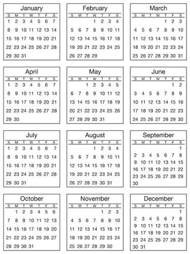 Scrap A Calendar Layout Gift!