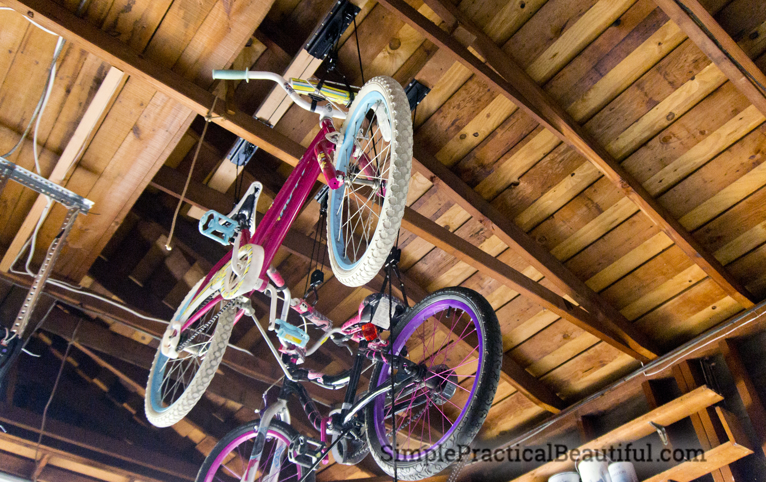 2 Car Garage Bike Storage How To Hang A Bicycle Lift Simple Practical Beautiful