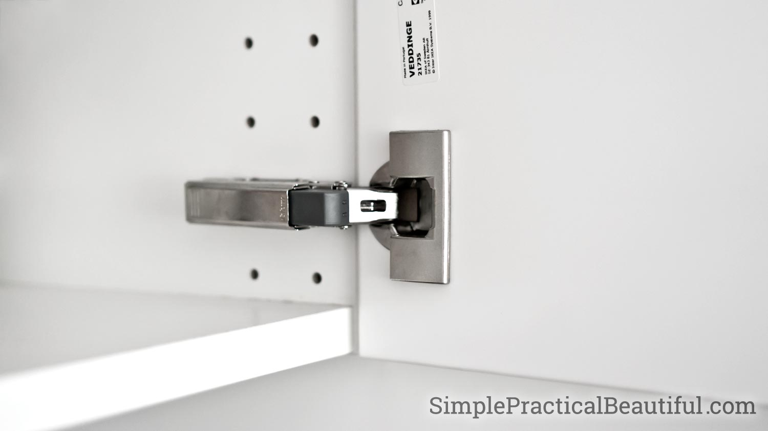 How To Attach An Ikea Sektion Cabinet Door Simple Practical Beautiful