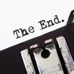 Retro typewriter text the end