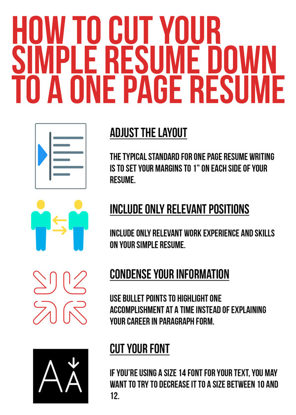 One Page Resume Layout Resume Writing Tips For A Simple Resume
