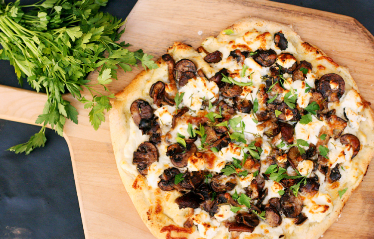 Truffle and Goat Cheese Pizza
