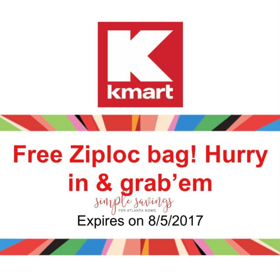 Kmart Coupons Free Ziploc Bag From Kmart Text Offer