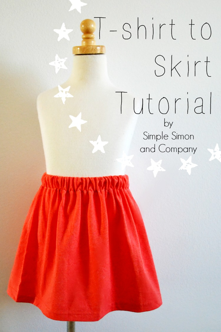 T Shirt To Skirt Tutorial Simple Simon And Company - T Schirt