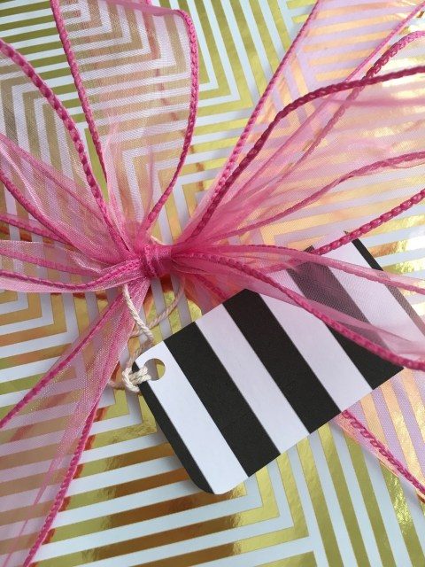 Black Striped Gift Tag - Simple Sojourns