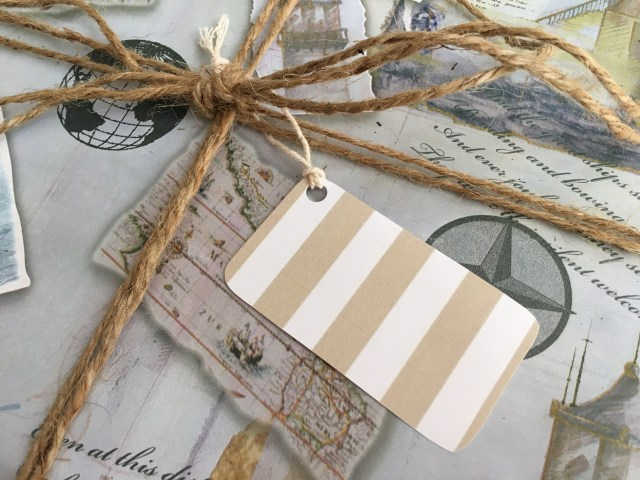 Striped Khaki Gift Tag - Simple Sojourns