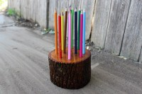 Rustic Colored Pencil Holder   Simple Solutions